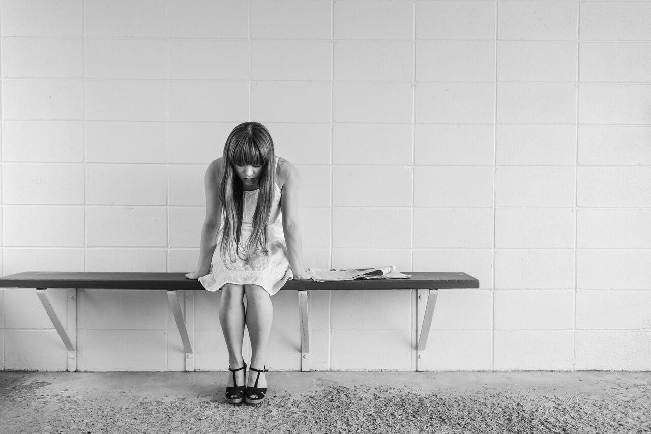 Maedchen mit Depression